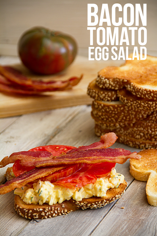 Tomato Sandwich with Bacon and Egg Salad