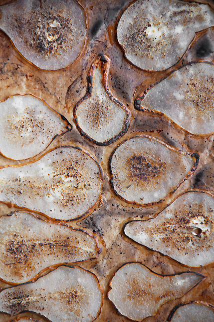 roasted pear slices