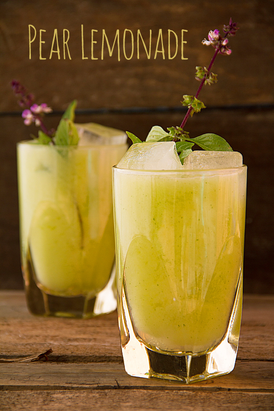 Pear Lemonade with Thai Basil