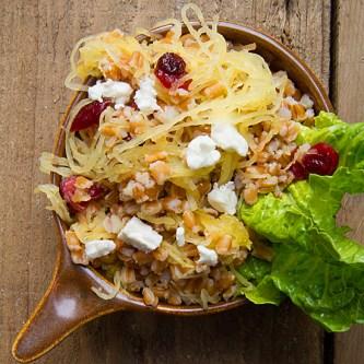 Spaghetti Squash and Farro Salad
