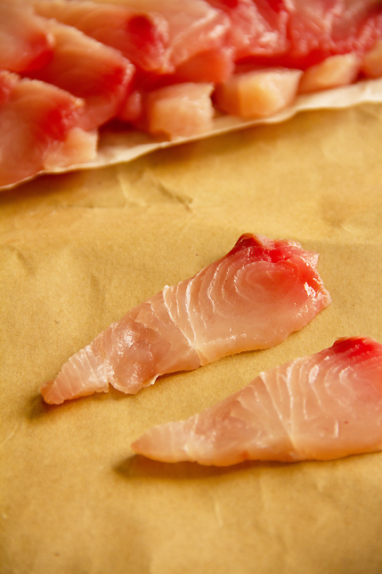 raw fish for tiradito
