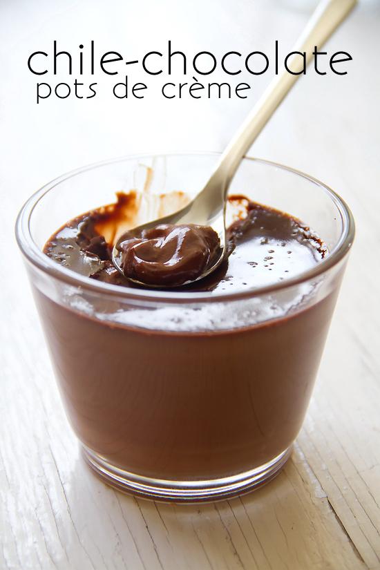 Chile-Chocolate Pots de Crème