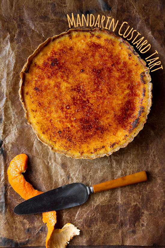 Mandarin Custard Tart