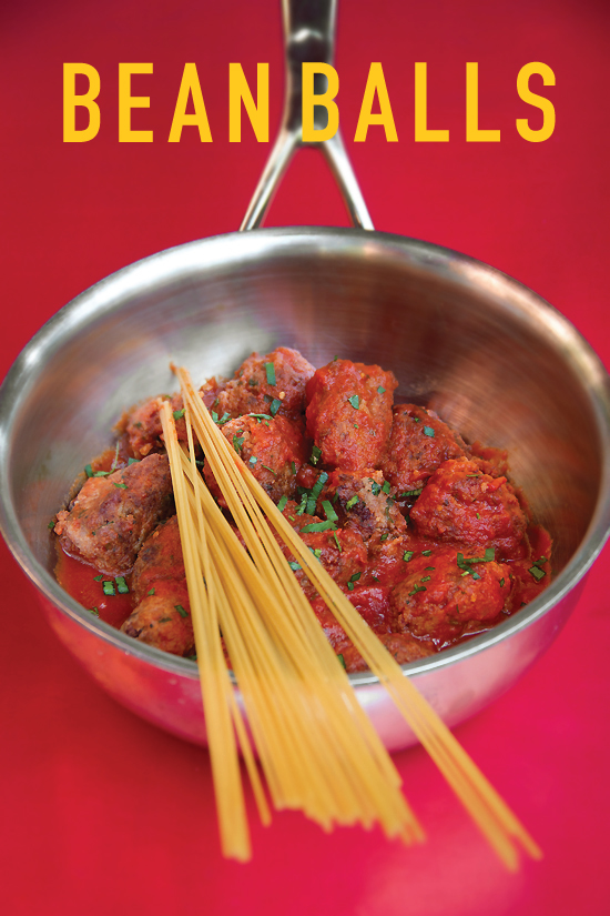 Spaghetti and Bean Balls