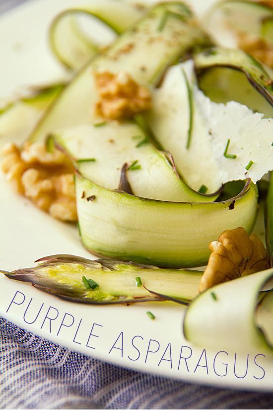 Raw Purple Asparagus Salad