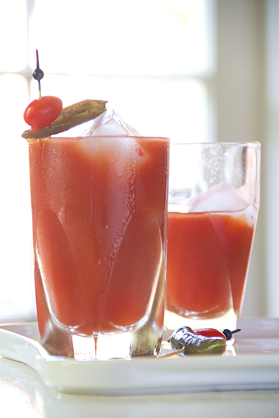 Bloody Maria Cocktail with tequila