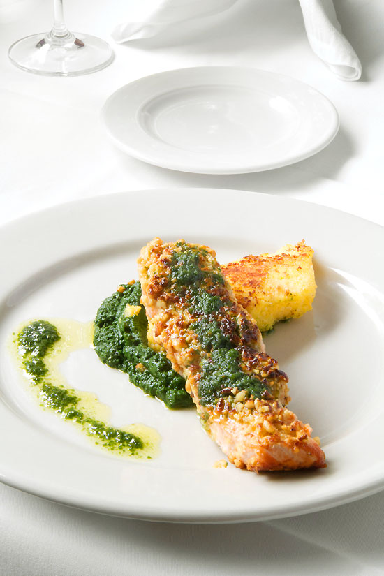 Pine Nut-Crusted Salmon