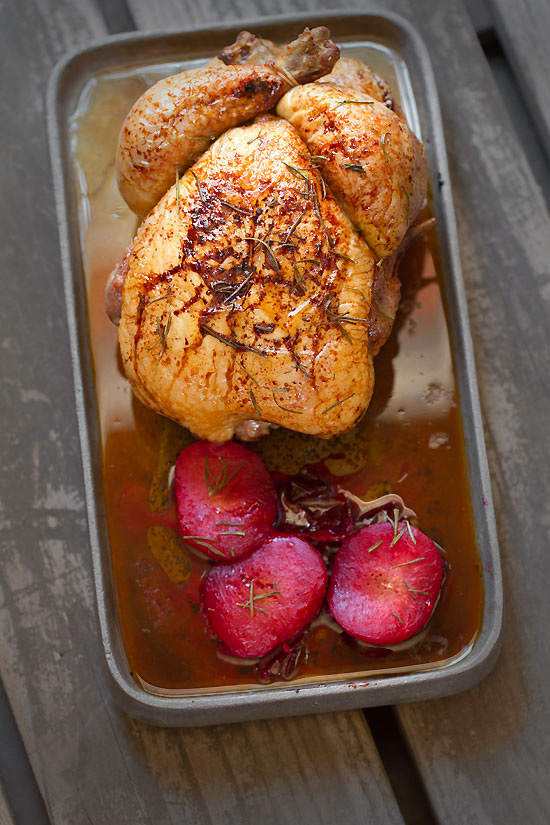 Honey Roasted Chicken and Plums