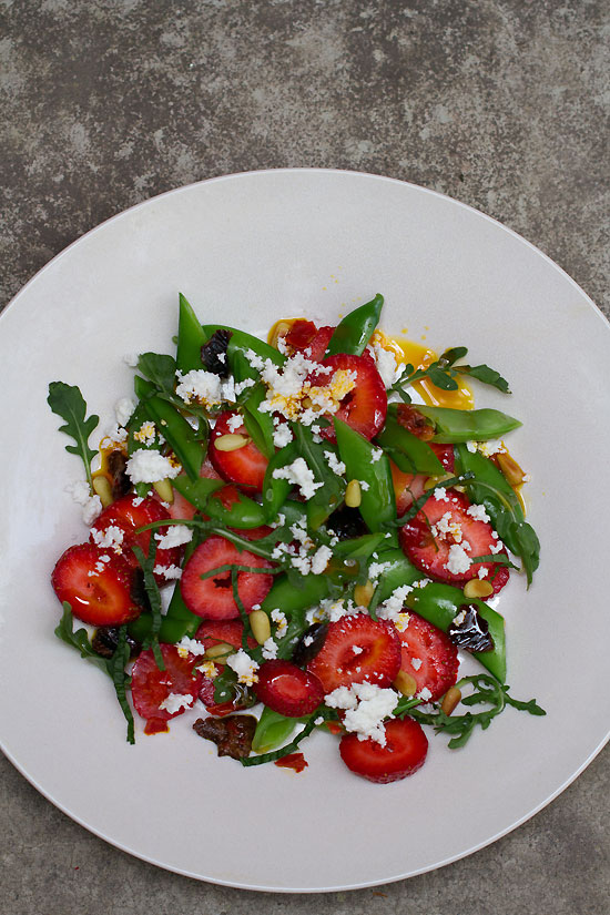 Strawberry and Snap Pea Salad with Calabrian Chile Relish