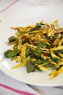 Charred Yellow Wax Beans with Basil