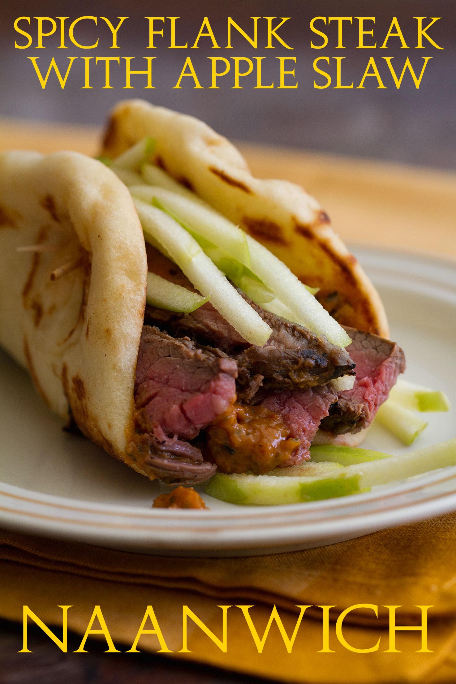 Spicy Flank Steak Naanwich