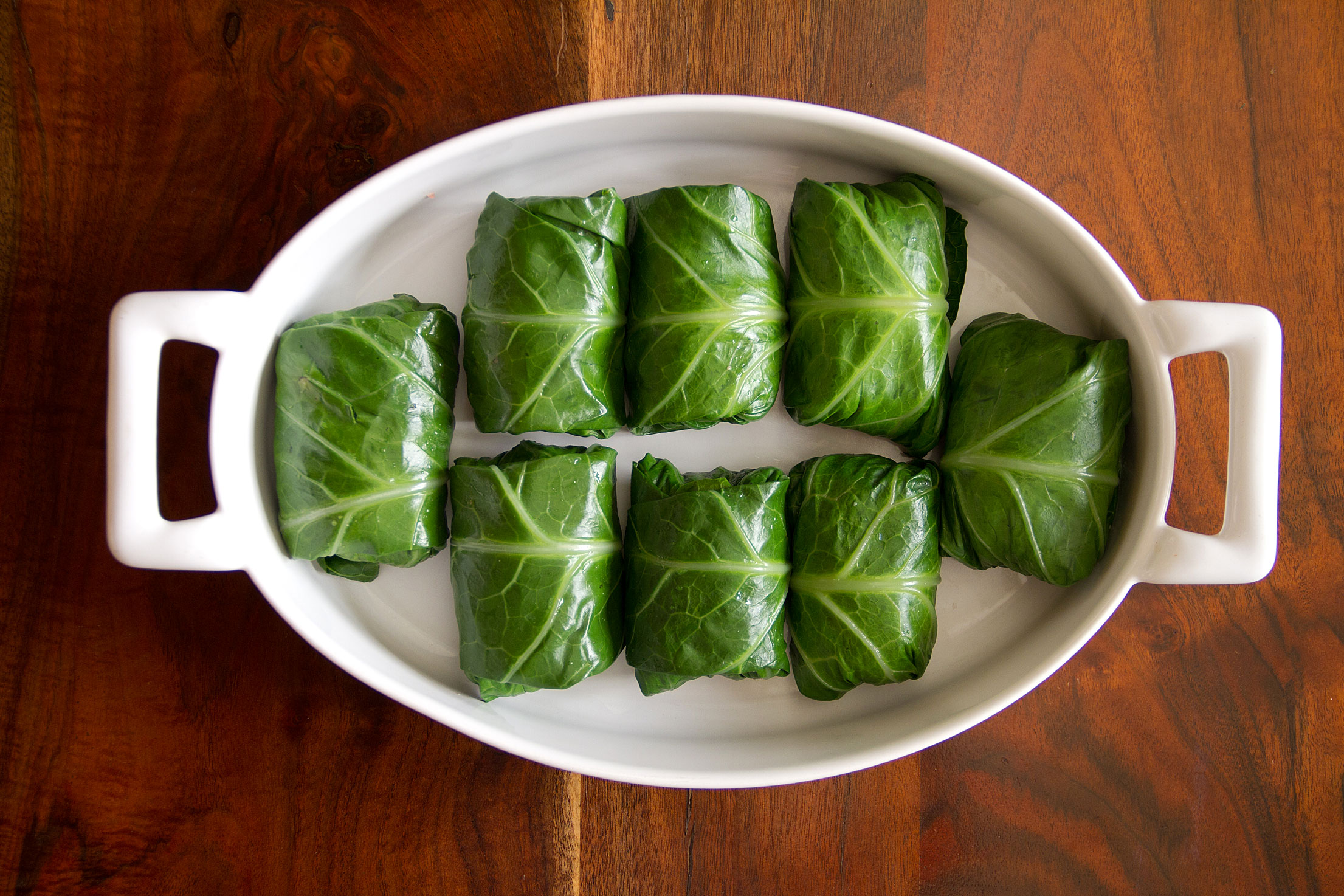 Modern Potluck: Pork-Stuffed Collards