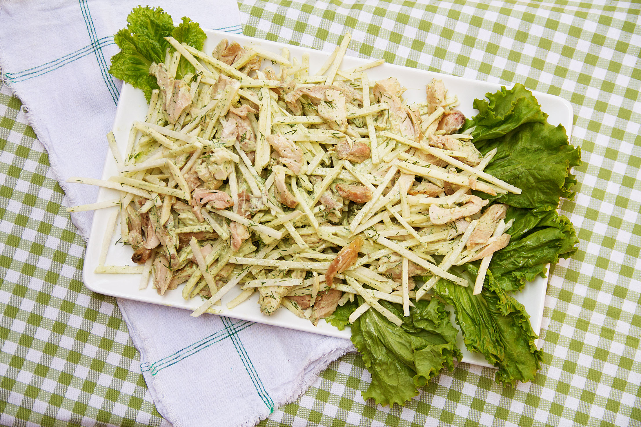 Chicken and Jicama Salad with Green Goddess Dressing