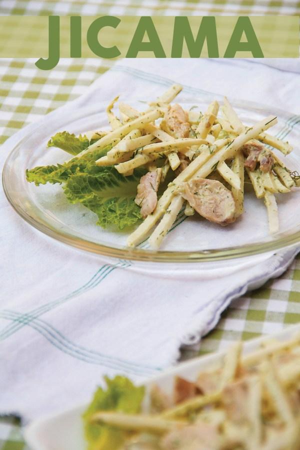 Chicken and Jicama Salad with Green Goddess Dressing