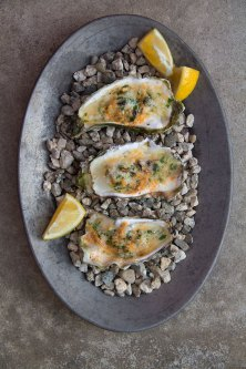 Grilled Parmesan Oysters