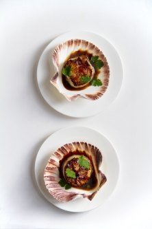 Sticky Sweet Salty Sour Spicy Seared Scallops