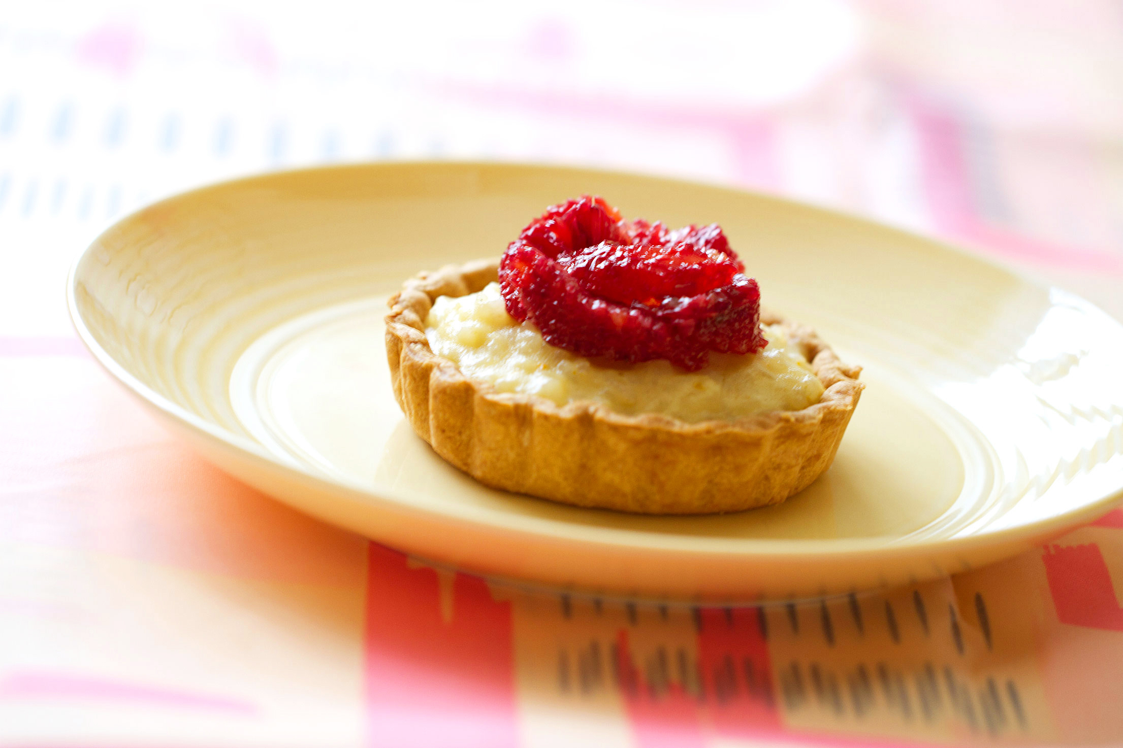 Rice Pudding Tarts with Cardamon and Blood Oranges