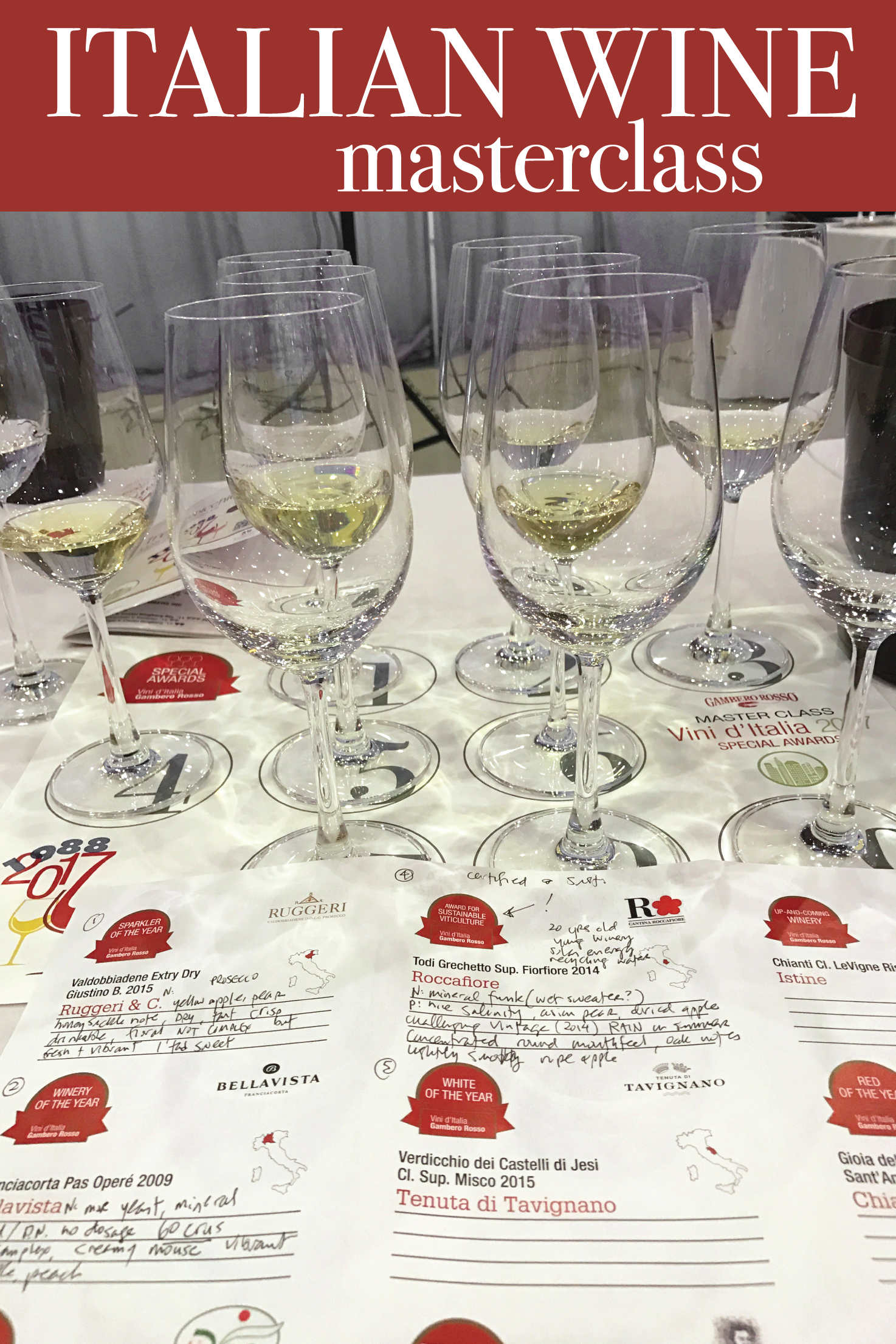 Gambero Rosso: Italian Wine Masterclass