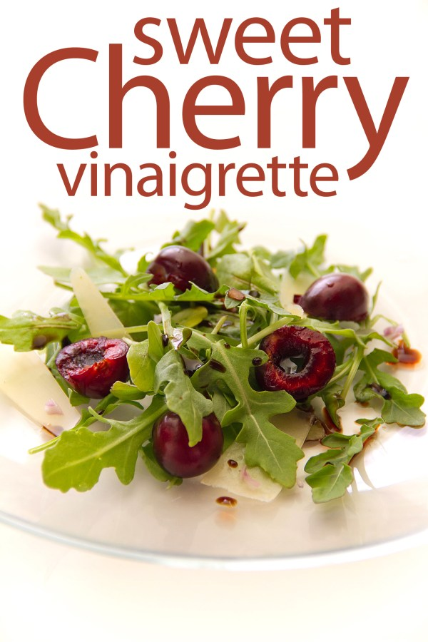 Cherry Vinaigrette for a Simple Salad of Arugula and Manchego