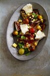 "Grilled Treviso and Corn Salad with Roasted Tomato ""Vinaigrette"""