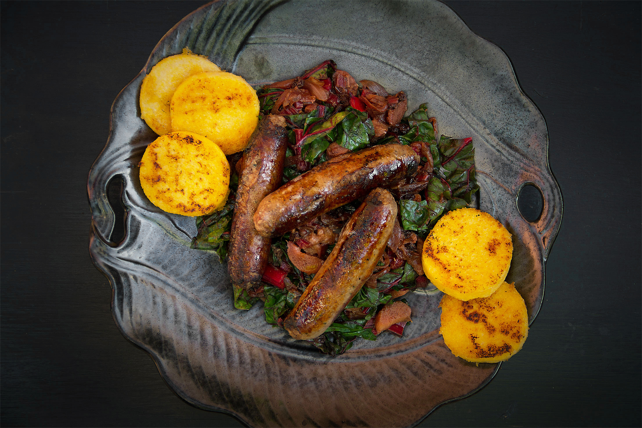 Savory Rhubarb with Sweet Sausage