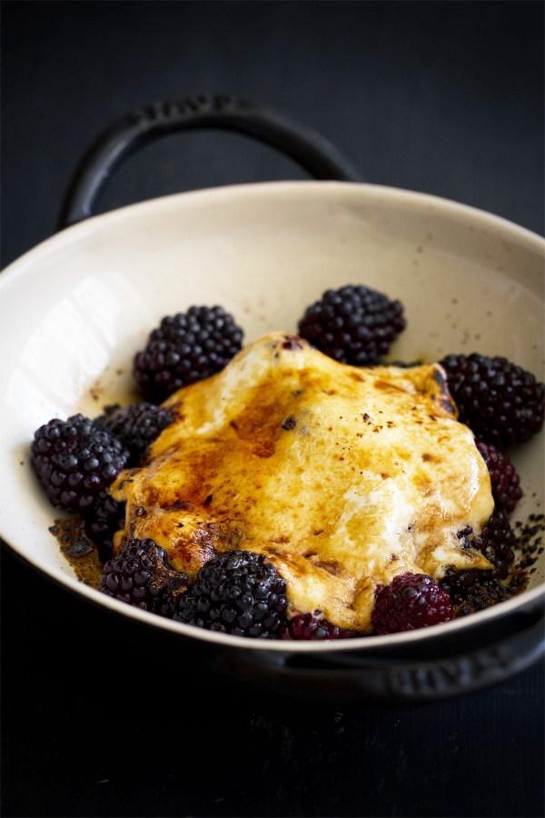 Broiled Blackberries with Yogurt