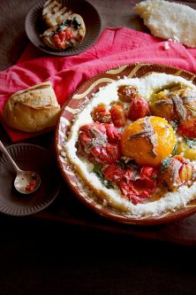 Tomatoes and Anchovies Roasted in a Salt Crust
