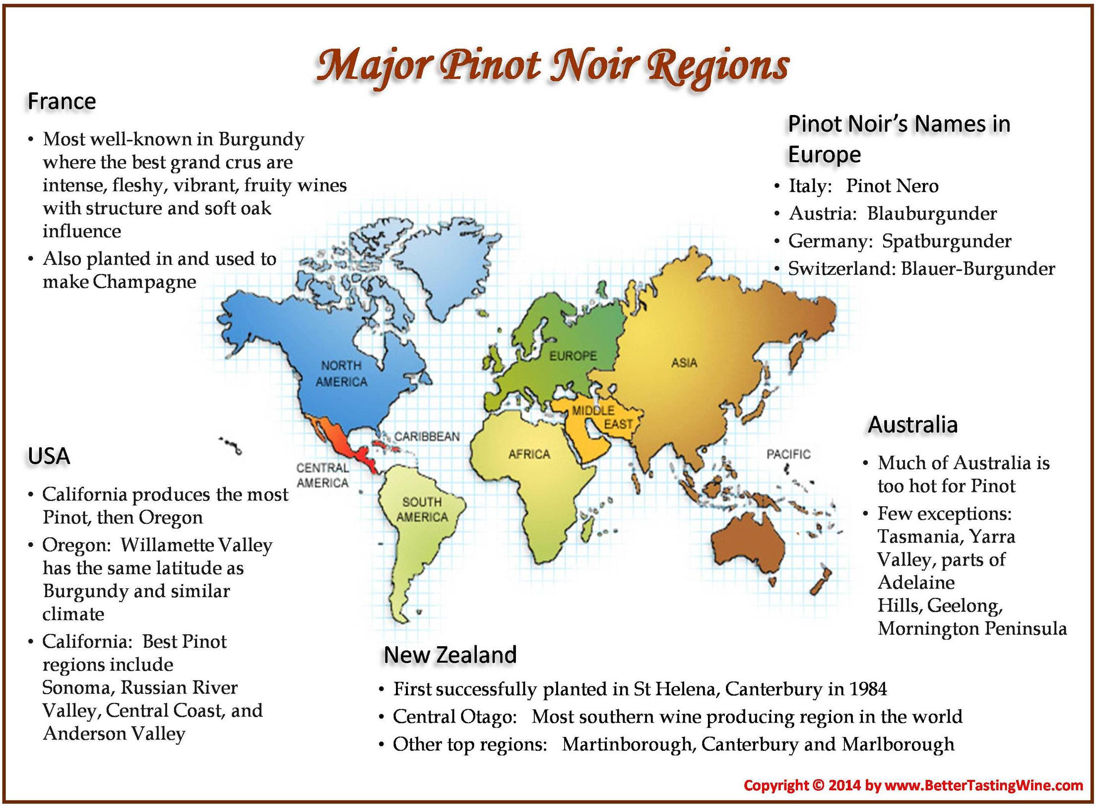 Pinot Noir World Map