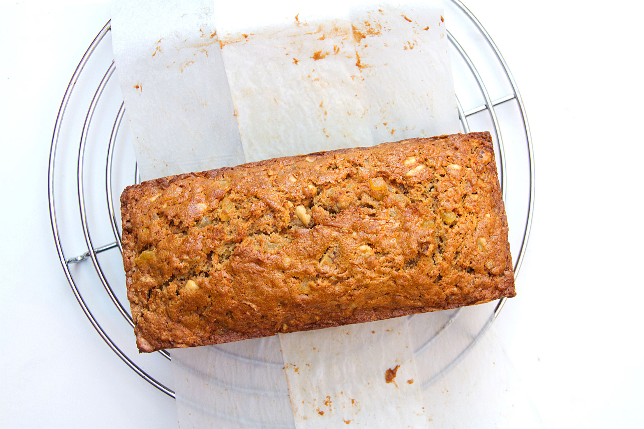 Carrot Loaf with Walnuts and Caramelized Ginger
