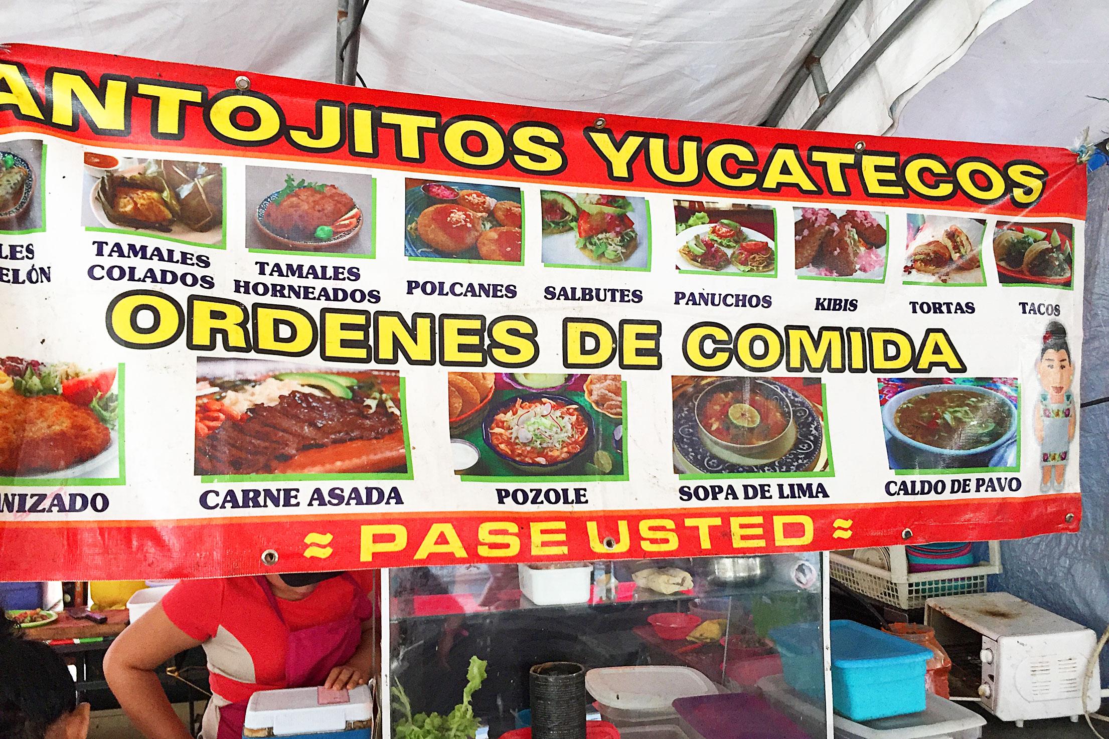 Typical Street Food of Mérida