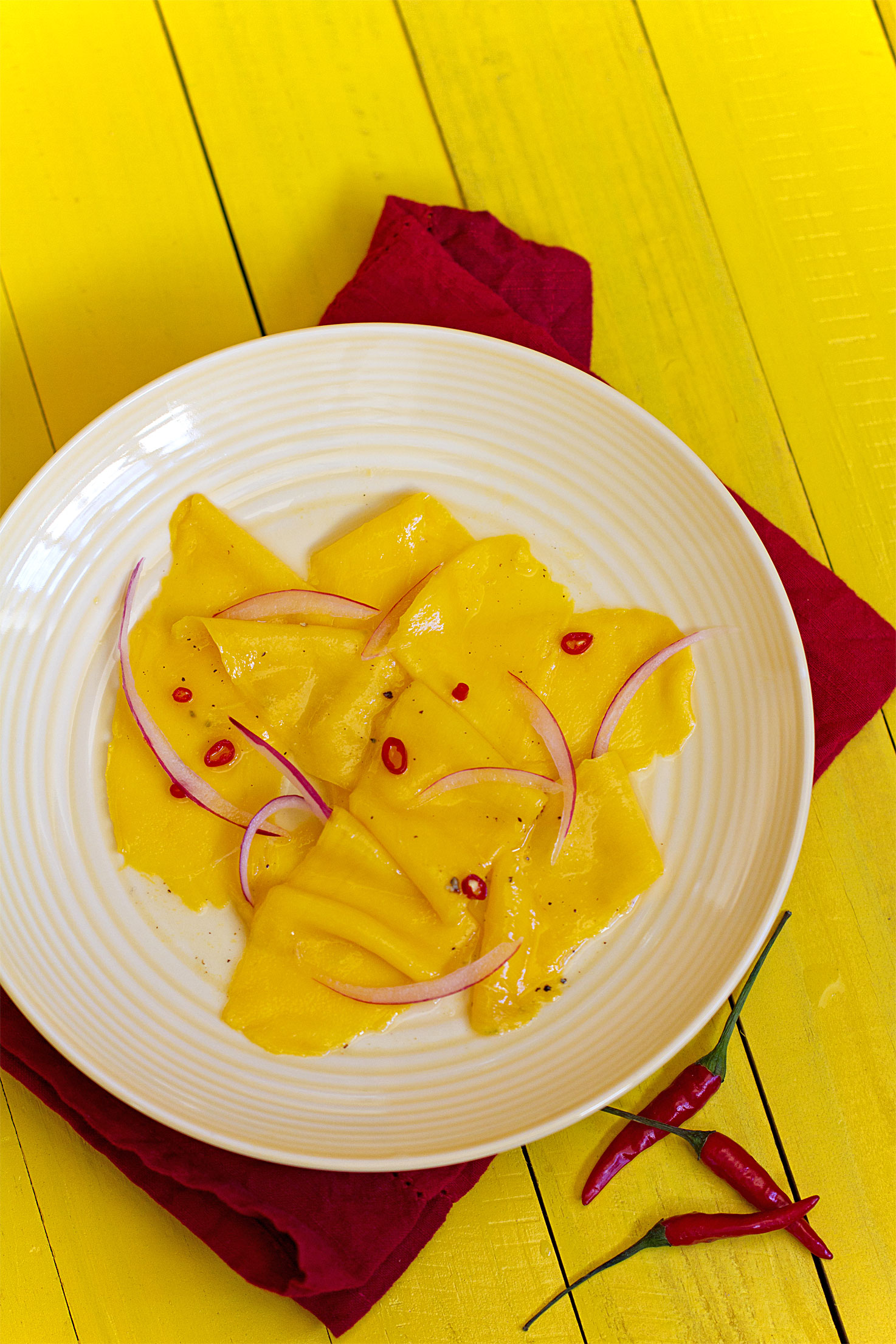 Pickled Alphonso Mango and Chile Salad