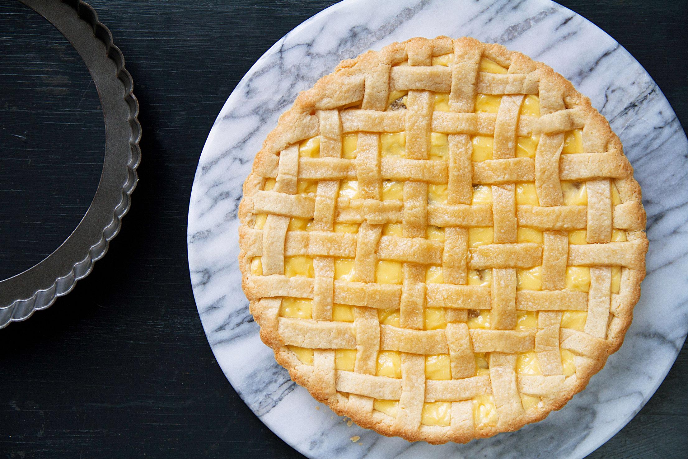 Raisin-Ricotta Crostata for Easter