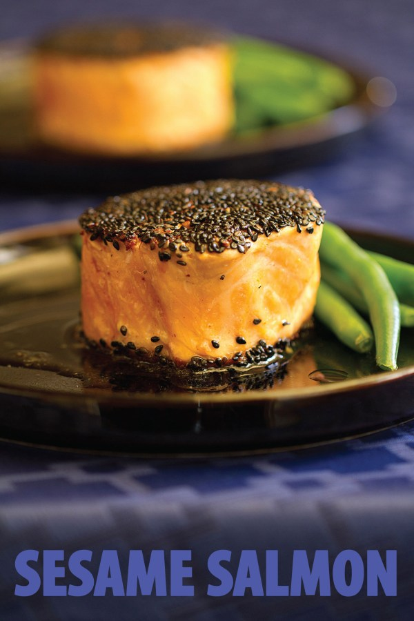 Sesame Salmon in Memory of My Father