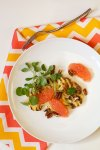 Grilled Cauliflower Steaks with Grapefruit, Watercress, and Pecans