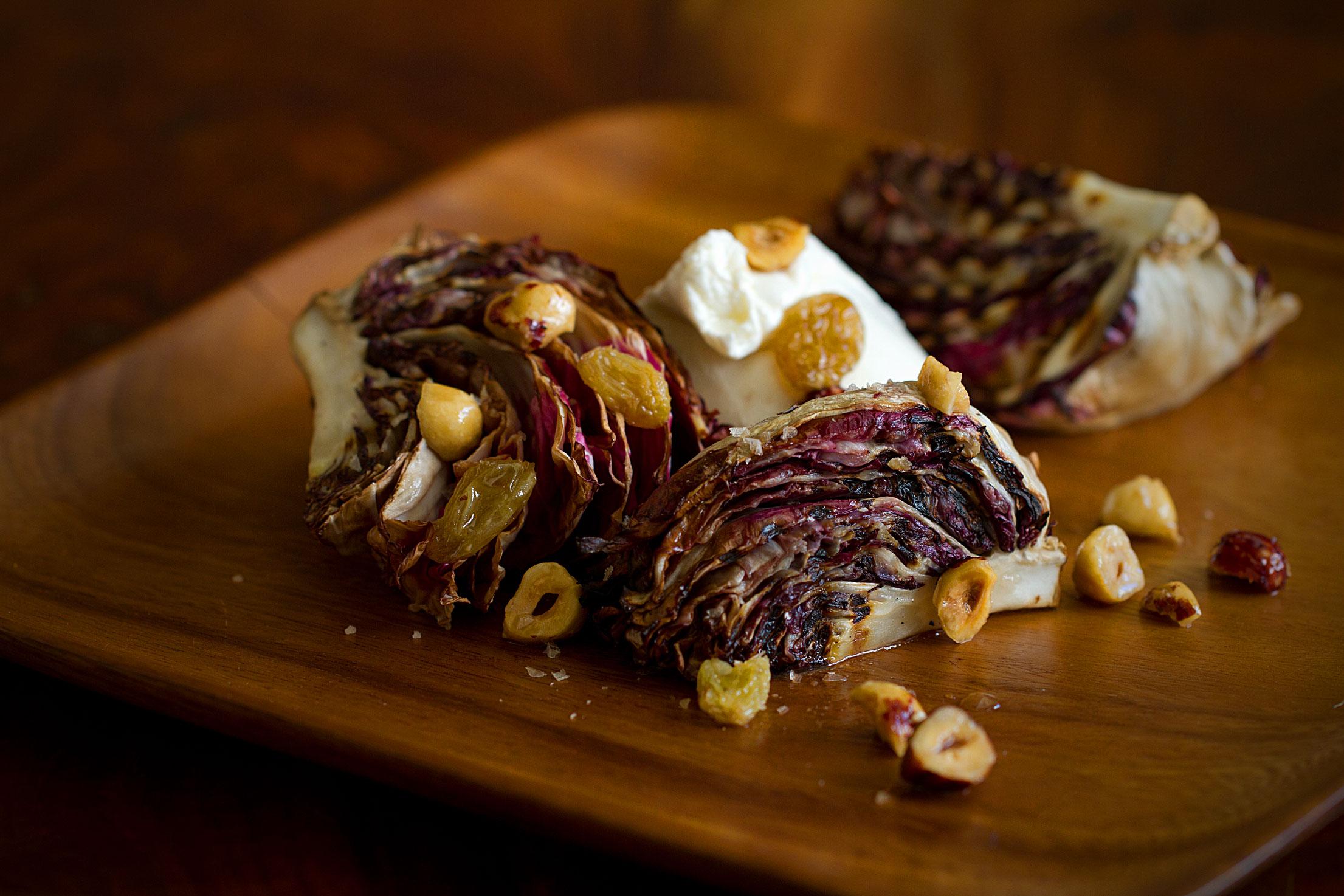Grilled Radicchio with Burrata