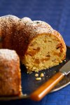 Dried Peach Cream Cheese Bundt Cake