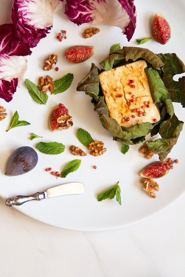 Sticky Baked Feta with Figs