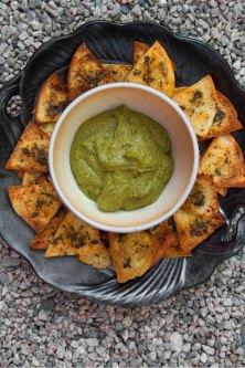 Almond and Swiss Chard-Tahini Dip
