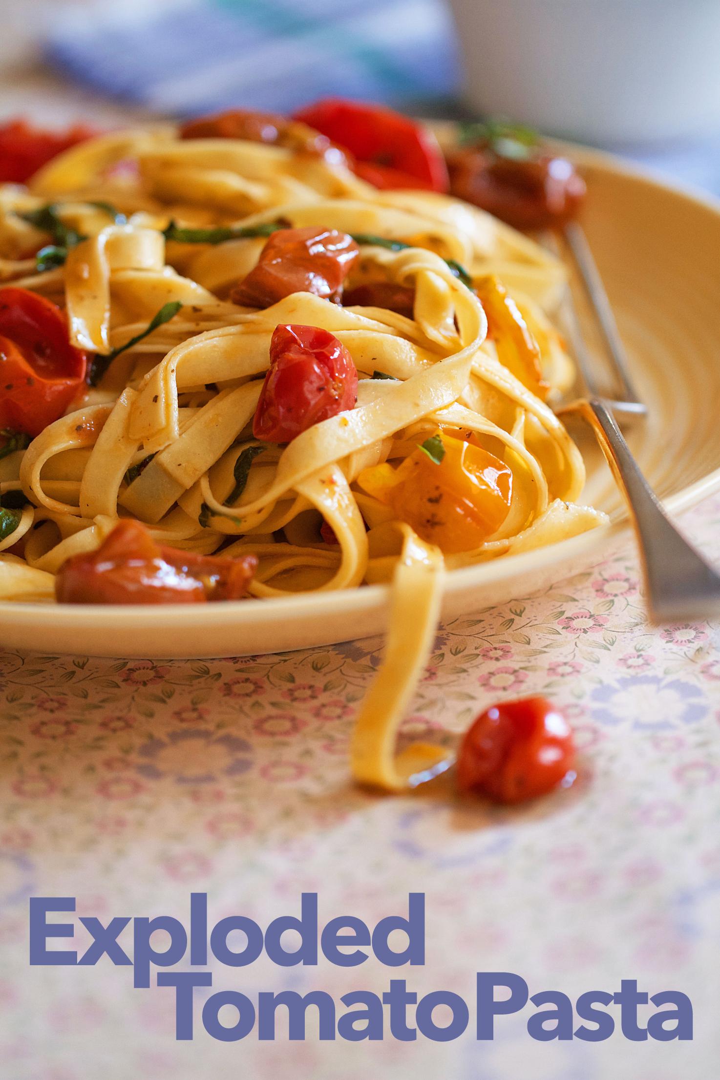 Pomodori Scoppiati (Exploded Cherry Tomato Sauce)