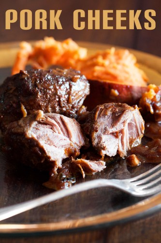 Soy and Vinegar Braised Pork Cheeks