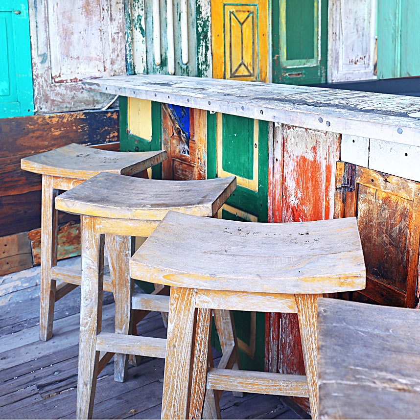 Colorful bar scene, Mexico