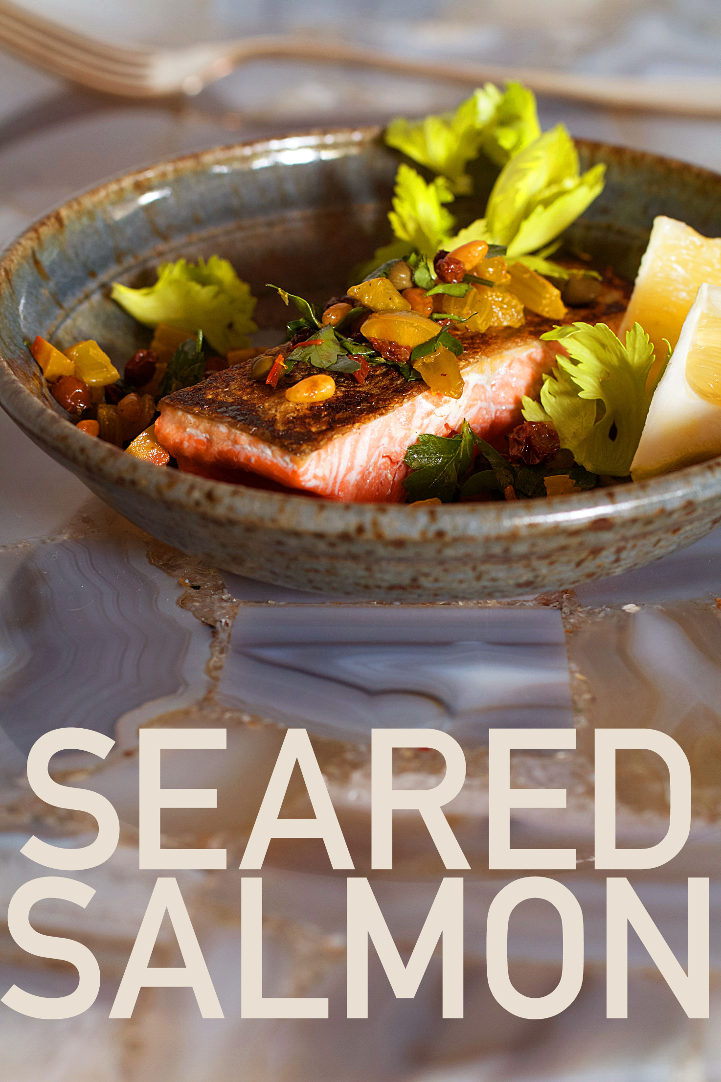 Pan Seared Salmon with a Simple Ottolenghi Salsa