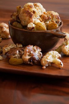 Roast Cauliflower with Saffron-Pickled Golden Raisins