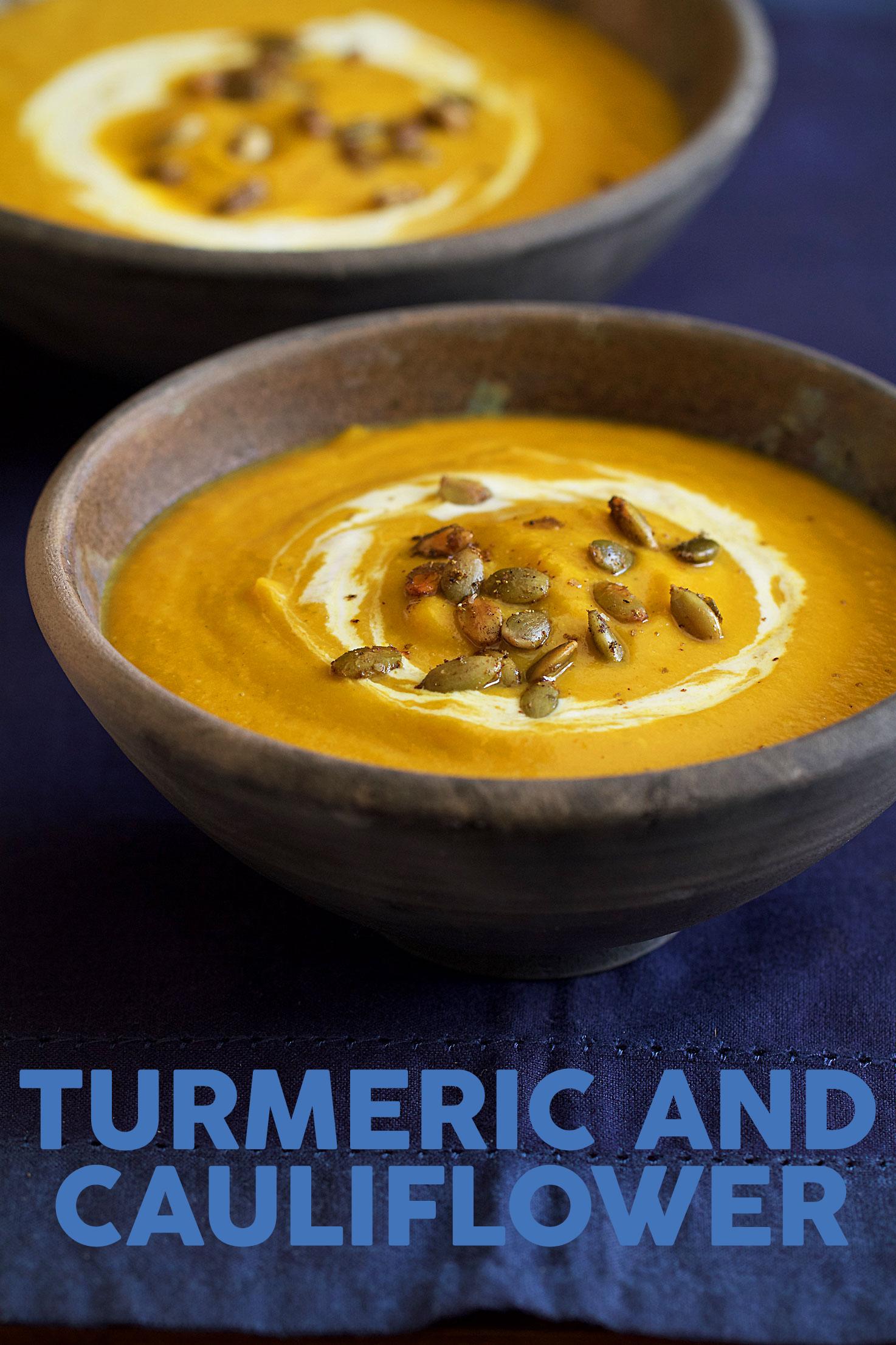 Velvety Turmeric and Cauliflower Soup