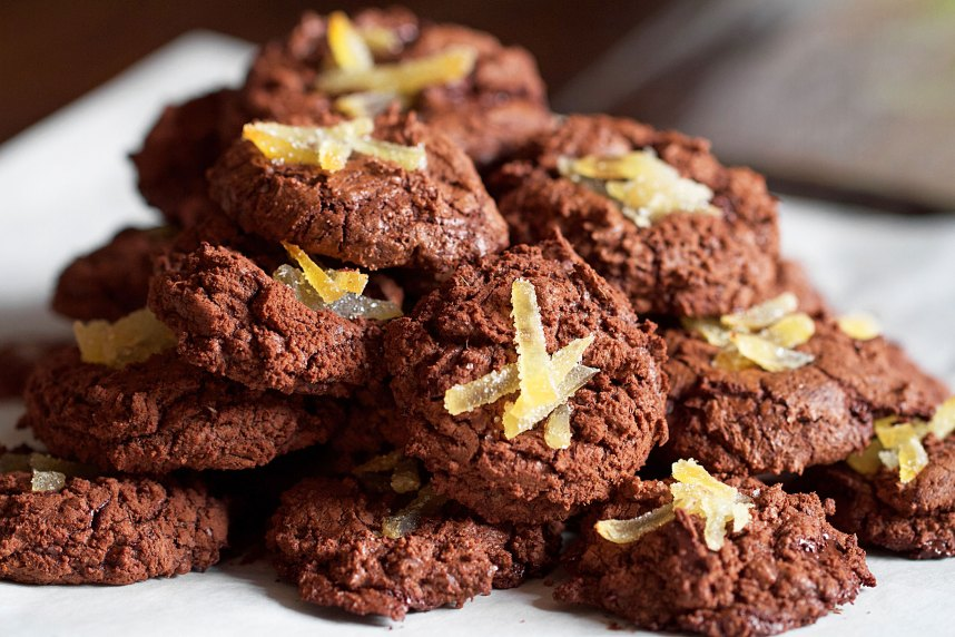 Christmas Chocolate-Ginger Cookies