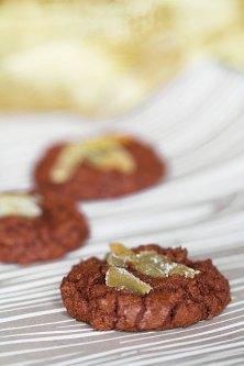 Chocolate-Ginger Crinkle Cookies