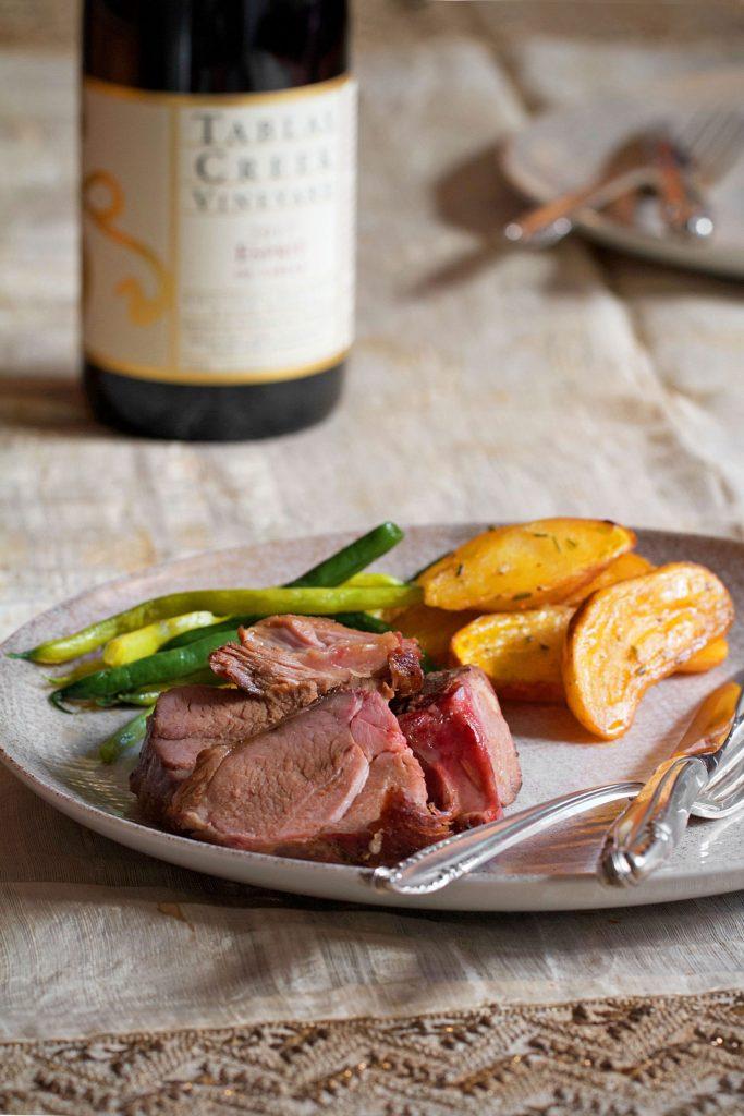 Lamb prepared by Marino Ristorante Hollywood for Tablas Creek virtual pairing dinner