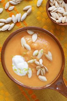 Carrot and Squash Soup with Ginger and Lemongrass