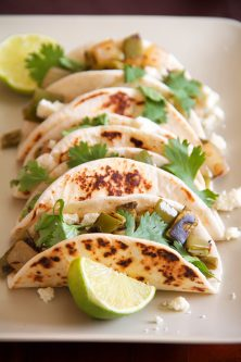 Simple Nopales Tacos with Cotija Cheese (Cactus Paddle Tacos)