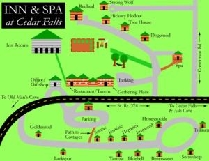 Map of Inn at Cedar Falls